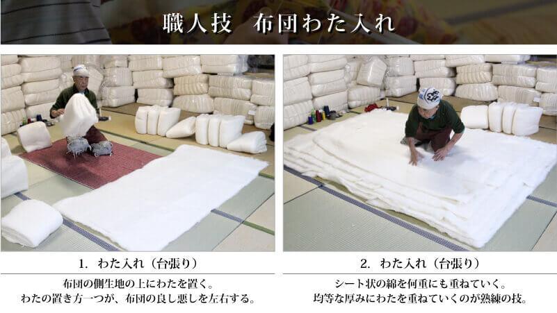 綿布団職人作業