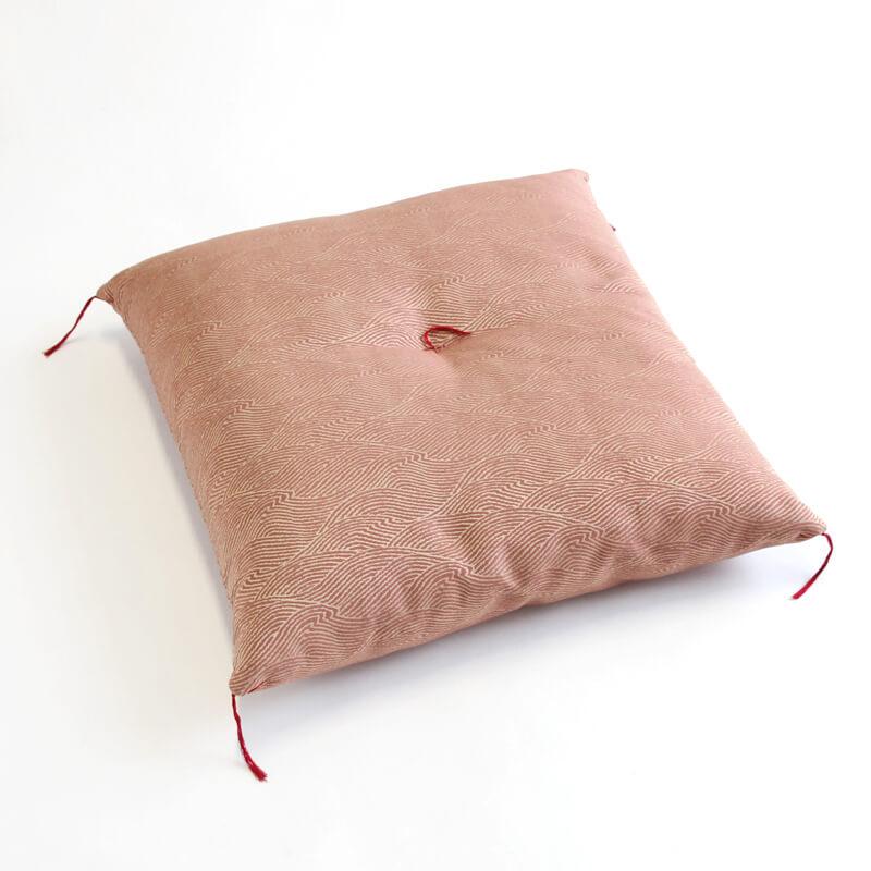 職人手作り座布団、インド綿シードコットン100%、華燭 赤色